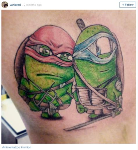 ninja turtle nose tattoo mutant turtle