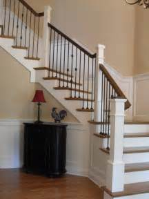 Banister Posts Box Newels Amp Wought Iron Traditional Staircase