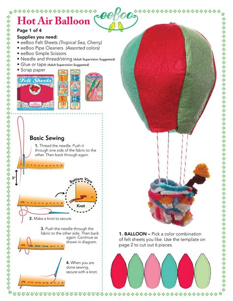 air balloon pattern hot air balloon template 1 be crafty with eeboo