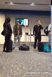gif drunk airport funny animated gif  gifer  shadowraven