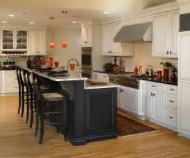 White Kitchen With Black Island Bay Area Cabinet Supply A Small Family Business
