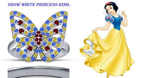 14k white gold fn 925 sterling silver disney princess snow