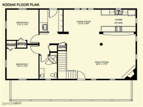 Log Home Open Floor Plans | log cabin floor plans with loft open floor plans log cabin