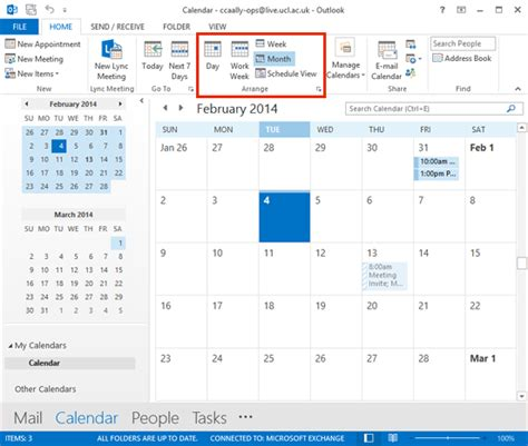 Where Is Calendar In Outlook 2013 Calendar View Calendar Template 2016