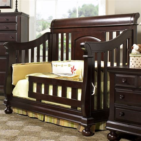Creations Crib by Creations Summer S Evening Convertible Sleigh Crib In Espresso