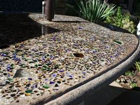 All Things Led Kitchen Backsplash embedding glass in outdoor concrete countertops the