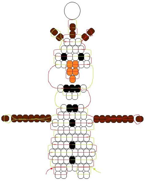 pony bead snowman olaf frozen do you wanna build a snowman