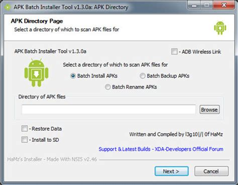apk installer for pc apk batch installer install backup restore rename android apps in one go to from your