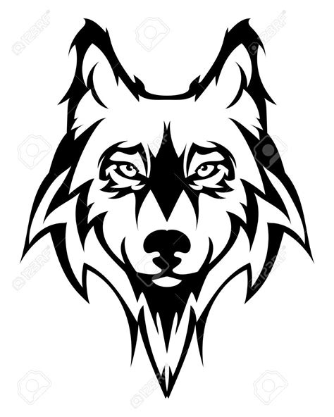 tattoo cartoon wolf wolf face beautiful wolf tattoo vector wolfs head as a