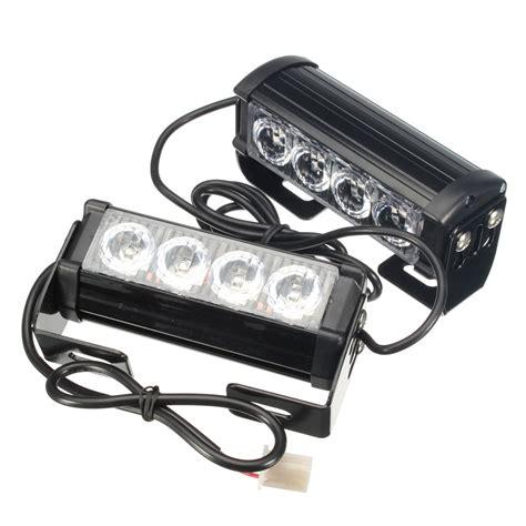 Flasher Sein Hazard Strobo Auto 1 pair 12v 4 led strobe flash hazard grille beacons