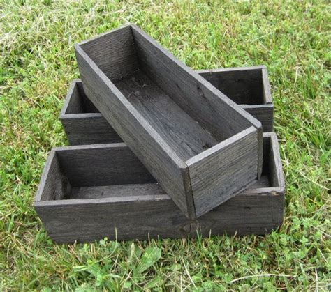 herb boxes 3 herb boxes reclaimed wood seed box
