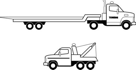 flat bed coloring page pictures of flatbed trucks cliparts co