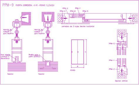 sliding door section dwg sliding door design view with door tool view with section
