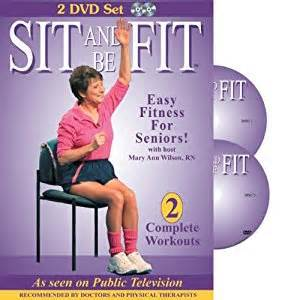 sit and be fit senior chair exercise workout