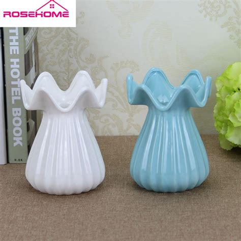 Artificial Flowers In Vase Wholesale by Rosehome 16cm Modern Creative Porcelain Vase Artificial