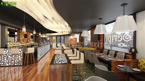 commercial unique bar interior rendering design cgi