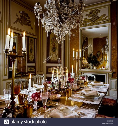 opulent dining room stock photo alamy