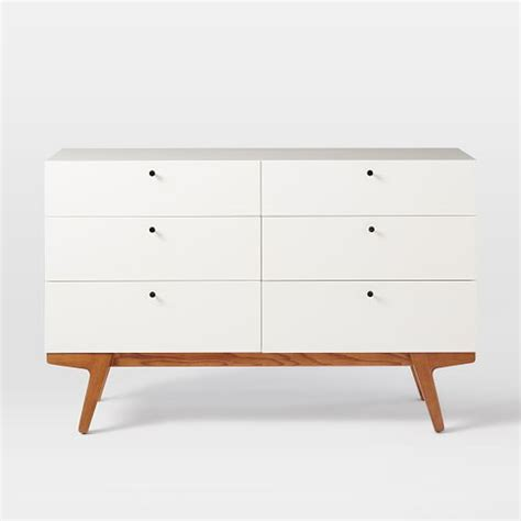 Shelf Dresser by Modern 6 Drawer Dresser West Elm
