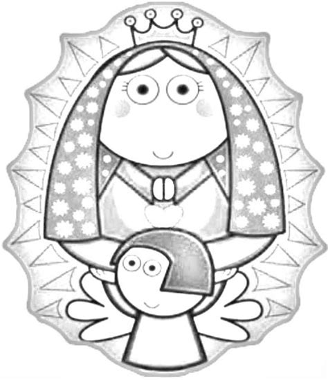 imagenes de la virgen faciles para dibujar dibujos infantiles de la v 237 rgen de guadalupe para colorear