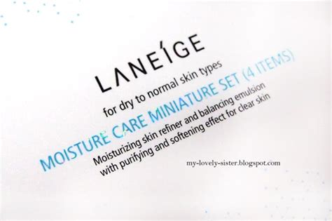 Laneige Krim my lovely a with review laneige moisture care miniature set