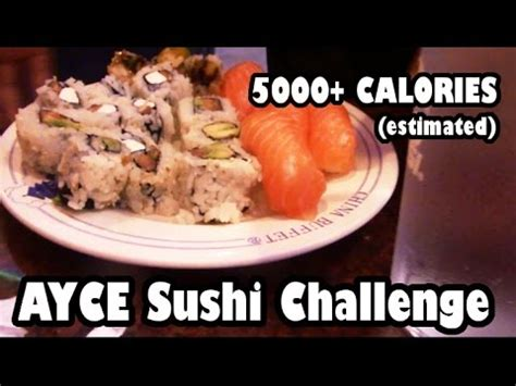 all you can eat challenge 21 sushi challenge doovi