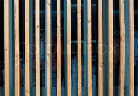 Architectural Building Plans by Vertical Wooden Fin Facade Of Modern Building Stock