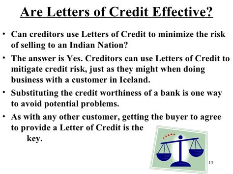 Letter Extending Credit To Customer Doing Business With Sovereign Nations