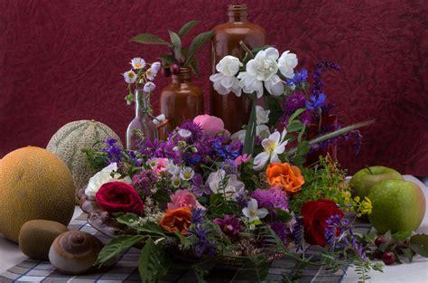 Lukisan Bunga Buah gambar menanam buah flora masih hidup bunga liar