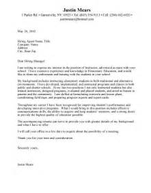 cover letter format for teaching position cover letter cover letter format all