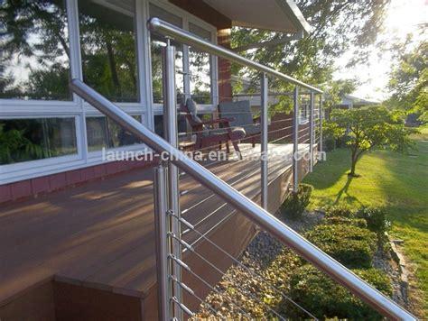 balkongeländer drahtseil modernen edelstahl drahtseil gel 228 nder f 252 r holz
