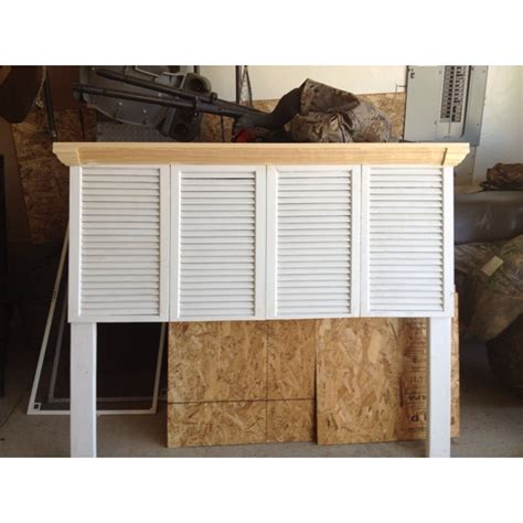 headboard made from shutters headboard made with shutters and 2x4