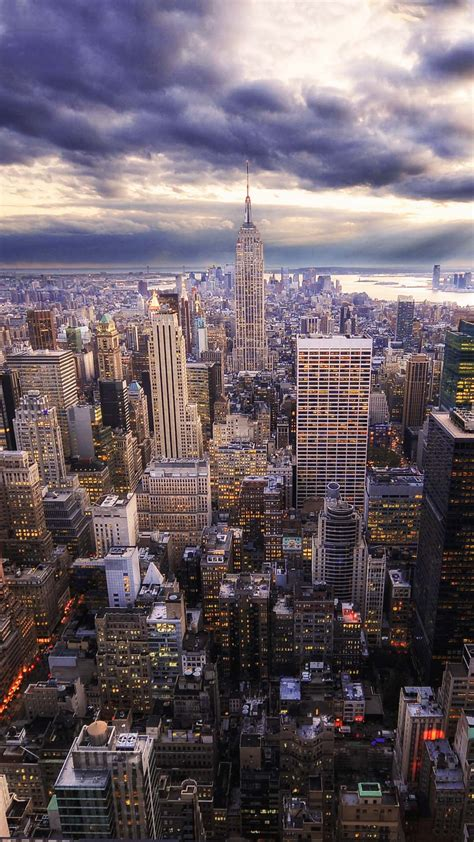 Wallpaper Android New York | hdr new york skyline view android wallpaper free download