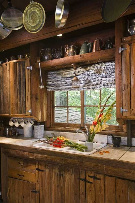 rustic cabin kitchen cabinets love the shelf above the window decorating pinterest