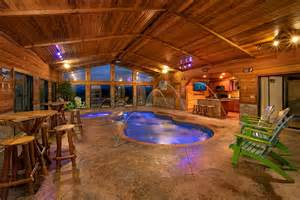 gatlinburg cabins with indoor pools for rent elk springs
