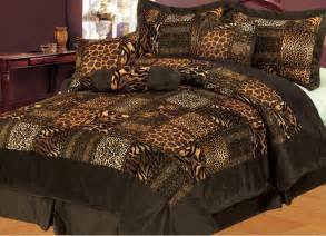 Bedding Sets Safari 7pcs Safari Brown Micro Fur Comforter Set 171