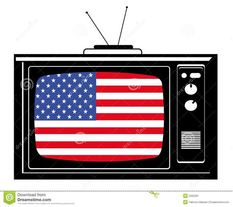 retro tv  flag  usa stock illustration illustration  channel