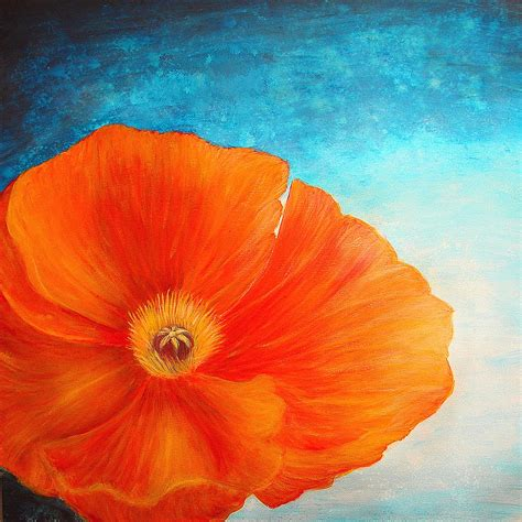 poppy painting by color blast