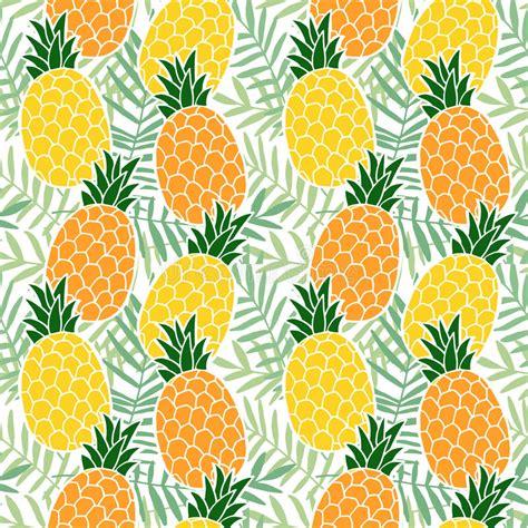 flat background pattern free tropical summer seamless pattern pineapple fruit palm