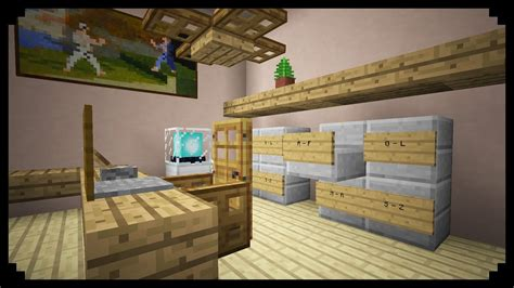 how to build a file cabinet minecraft how to make a filing cabinet youtube