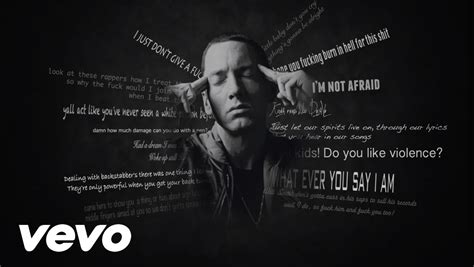 eminem lose yourself lyrics eminem lose yourself lyrics video youtube