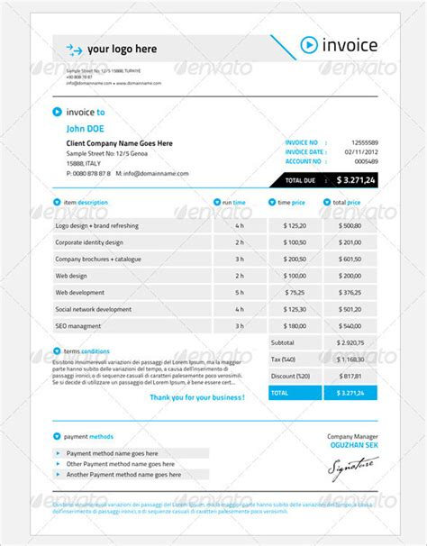 28 business invoice template excel business invoice