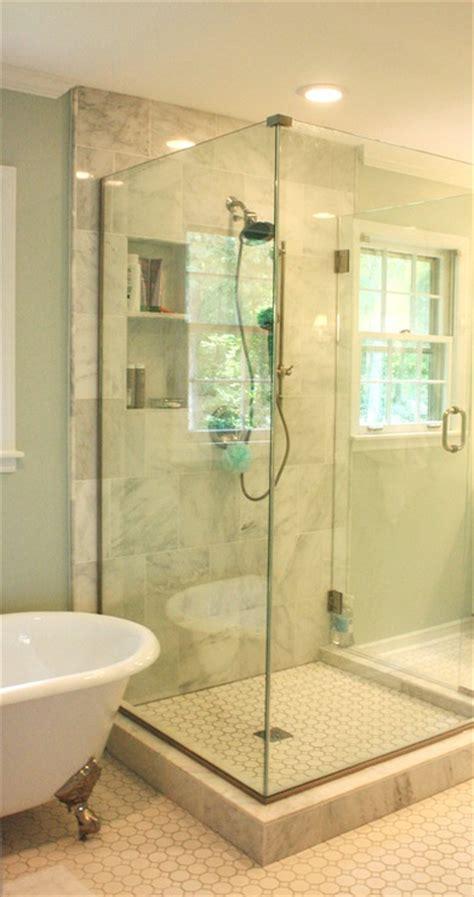 Sherwin Williams Sea Salt Bathroom by Grecian Marble Tile Traditional Bathroom Sherwin