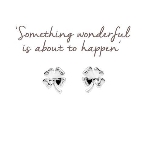 Four Leaf Clover Stud Earring sterling silver four leaf clover stud earrings lucky