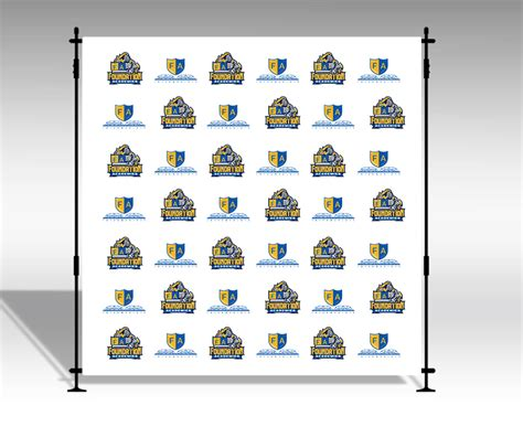 step and repeat backdrop print only