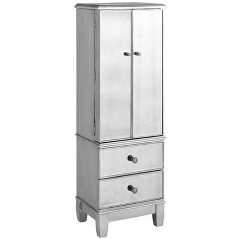 mirrored jewelry armoire clearance hayworth mirrored jewelry armoire silver glass home