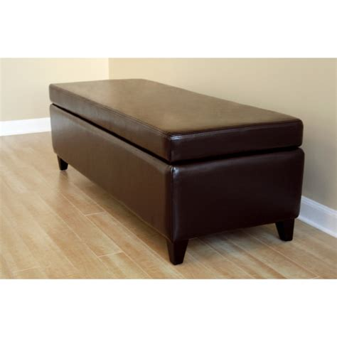 Black And White Storage Bench Black Leather Storage Bench Ottoman See White