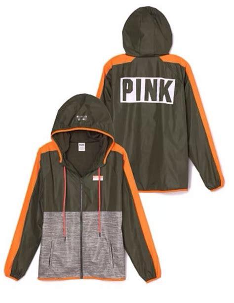 Make Screet Jacket Hoodie s secret pink anorak windbreaker hoodie jacket m l nwt olive marl logo