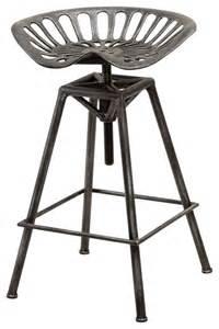 industrial metal design tractor seat bar stool