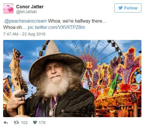 Woah We Re Halfway There Meme - quot wizard at a fair quot tweet by mrjattski whoa we re