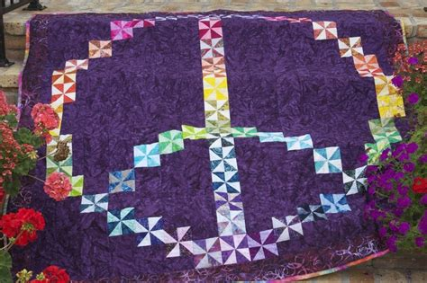 Quilting In Peace by Peace Sign Quilt Quilts